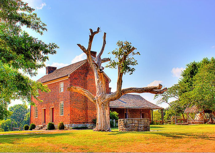 Historical Home Greeting Card featuring the photograph Bowen Plantation House 003 by Barry Jones