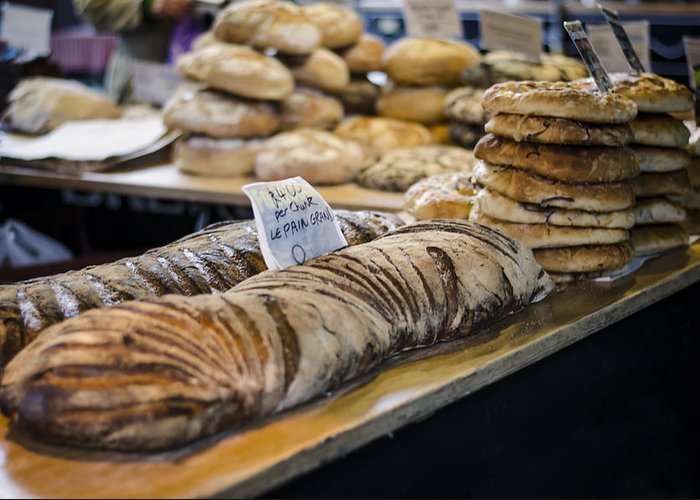 Bread Greeting Card featuring the photograph Bread Market by Heather Applegate