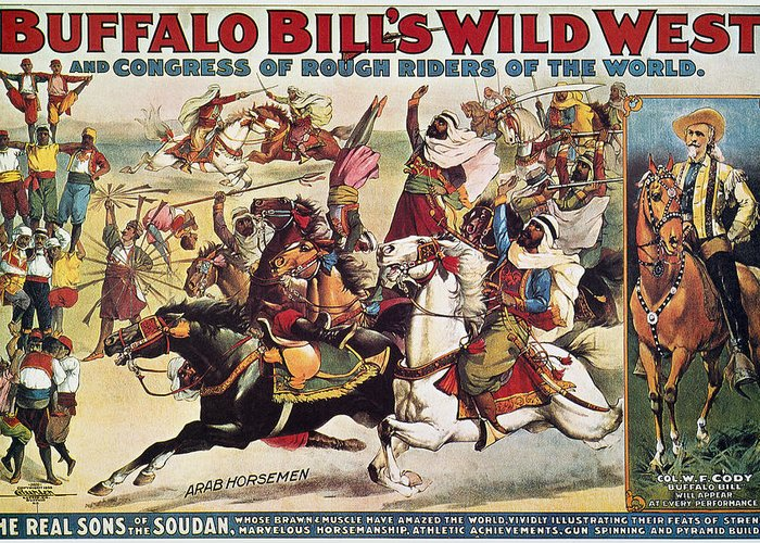1899 Greeting Card featuring the photograph Buffalo Bill: Poster, 1899 by Granger