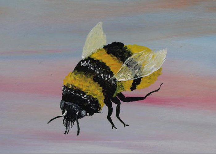Mark Greeting Card featuring the painting Bumble Bee by Mark Moore