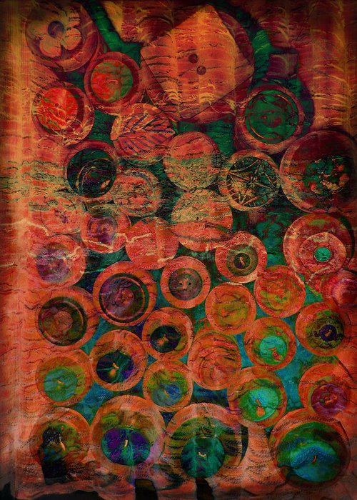 Abstract Greeting Card featuring the photograph Buttons by Ann Powell