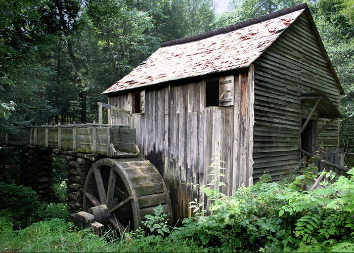 Grist Mill Greeting Card featuring the photograph Cade's Grist Mill by Barry Jones