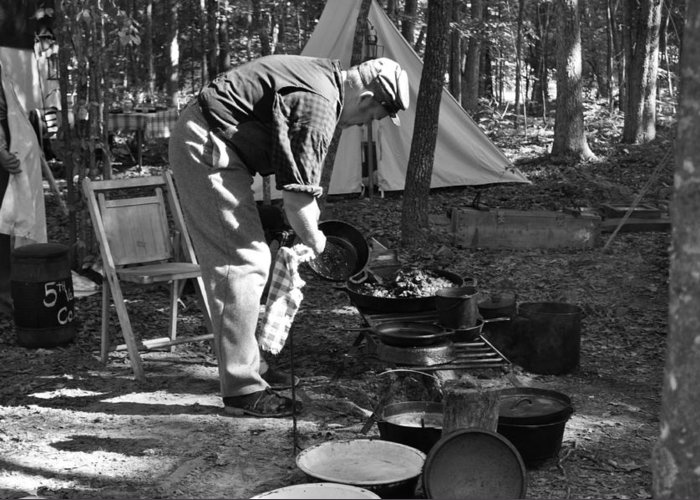 War Greeting Card featuring the photograph Camp Site by Tammy Price