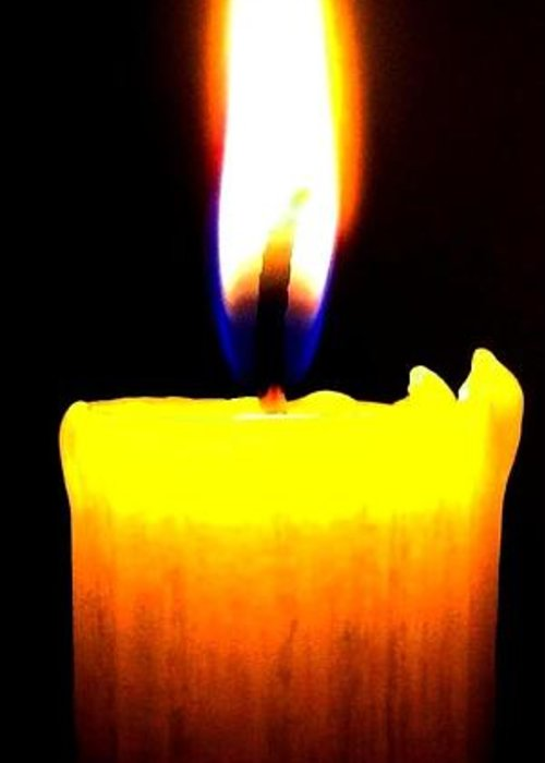 Candle Greeting Card featuring the photograph Candle Power by Will Borden