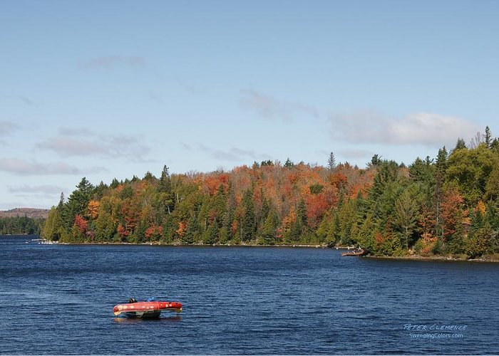 Canoe Greeting Card featuring the photograph Canoe Ride by Peter Clemence