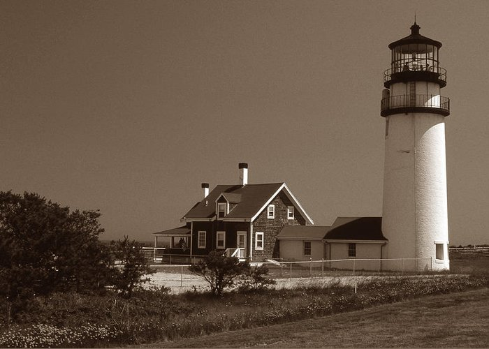 Lighthouses Greeting Card featuring the photograph Cape Cod Lighthouse by Skip Willits