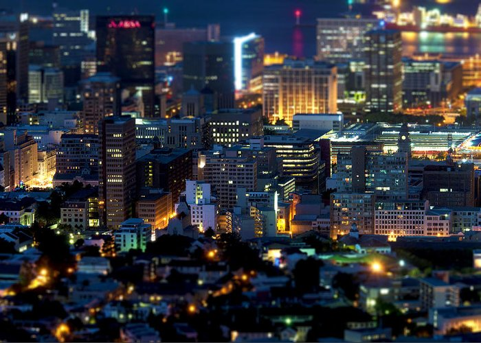 View Greeting Card featuring the photograph Cape Town's Tilt Shift by Fabrizio Troiani