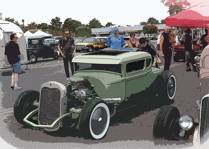 Hot Rod Coupe Greeting Card featuring the photograph Car Show Coupe by Steve McKinzie