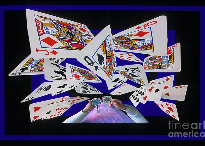 Cards Greeting Card featuring the photograph Card Tricks by Bob Christopher