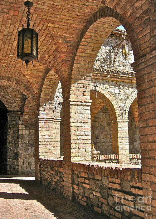 Angelica Dichiara Paintings Greeting Card featuring the photograph Castello Amorosa by Italian Art