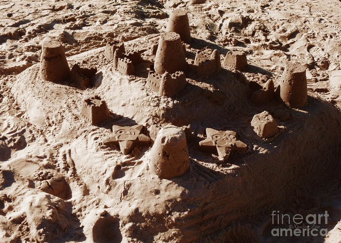 Sand Greeting Card featuring the photograph Castles Made Of Sand by Xueling Zou