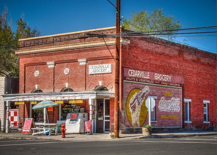 Americana Greeting Card featuring the photograph Cedarville California Grocery Store by Scott McGuire
