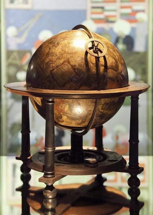 Equipment Greeting Card featuring the photograph Celestial Globe, 17th Century by Detlev Van Ravenswaay