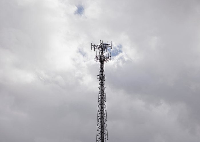 Cell Phone Greeting Card featuring the photograph Cell Phone Tower by Paul Edmondson