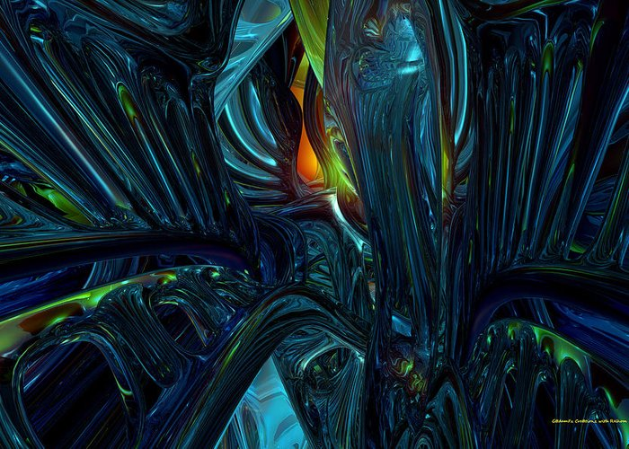 Abstract Greeting Card featuring the digital art Certain Inner Peace Fx by G Adam Orosco