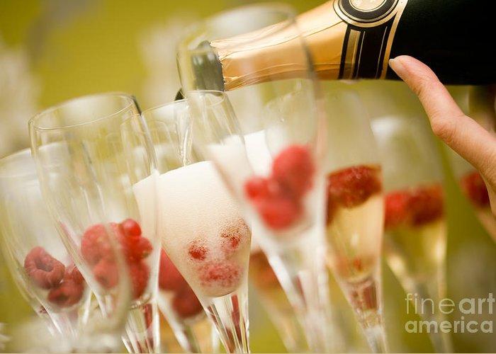 Champagne Greeting Card by Kati Molin