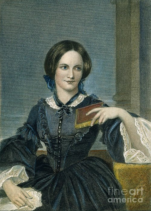 19th Century Greeting Card featuring the photograph Charlotte Bronte by Granger