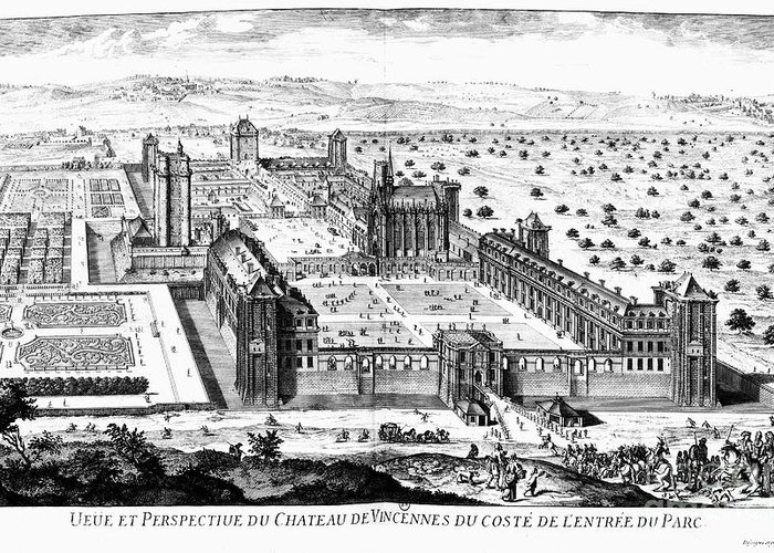 17th Century Greeting Card featuring the photograph Chateau De Vincennes by Granger