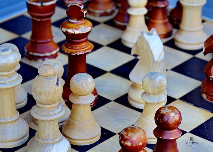 Chess Greeting Card featuring the photograph Checkmate by Russ Harris