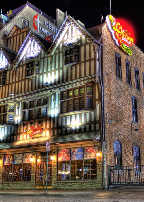 Cheli's Chili Bar Greeting Card featuring the photograph Cheli's Chili Bar Detroit by Nicholas Grunas