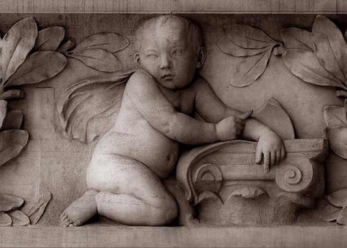 Cherub Greeting Card featuring the photograph Cherubs 3 by Andrew Fare
