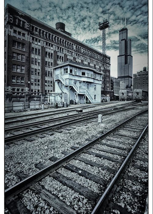 Chicago Greeting Card featuring the photograph Chicago Rail Station by Donald Schwartz