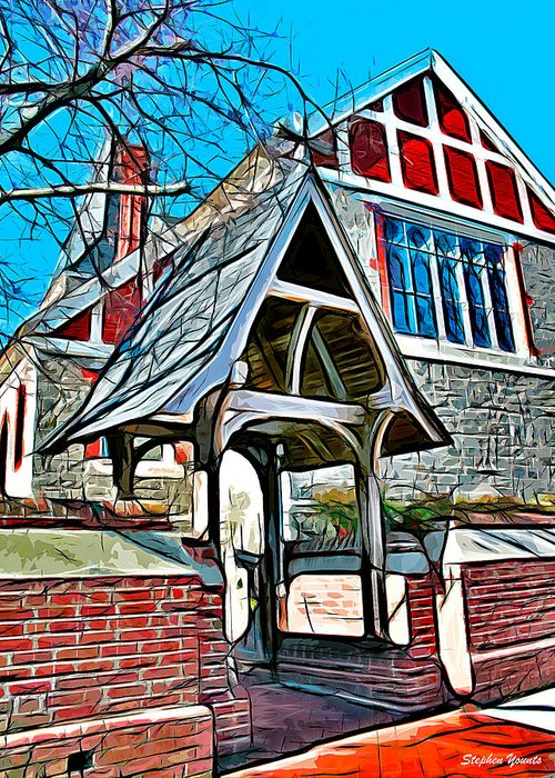 Christ Greeting Card featuring the digital art Christ Church Of St Michaels by Stephen Younts
