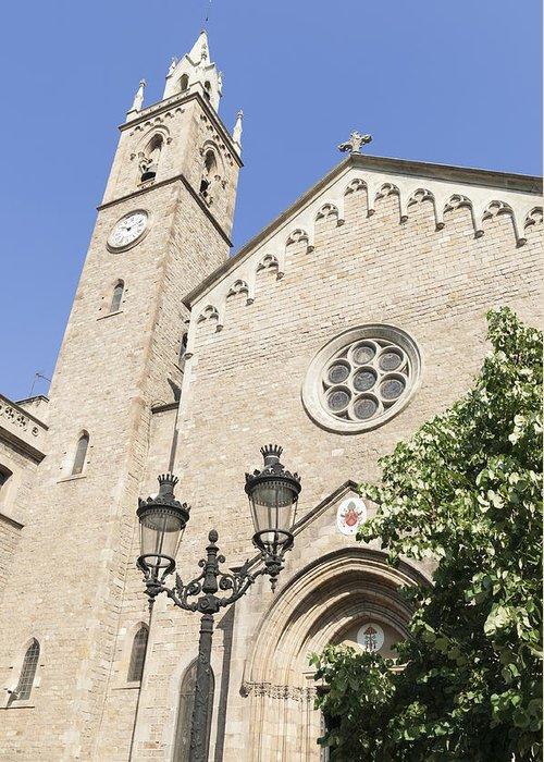 Barcelona Greeting Card featuring the photograph Church Parroquia De La Purissima Concepcio Barcelona Spain by Matthias Hauser