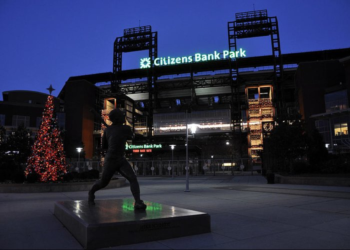 Citizens Bank Park Greeting Card featuring the photograph Citizens Bank Park by Andrew Dinh