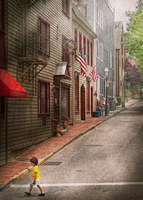 Rhode Greeting Card featuring the photograph City - Rhode Island - Newport - Journey by Mike Savad