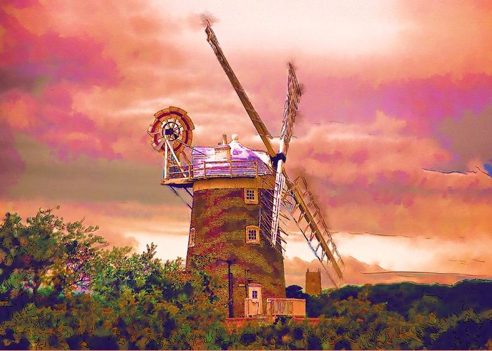 Cley Windmill Greeting Card featuring the photograph Cley Windmill 2 by Chris Thaxter