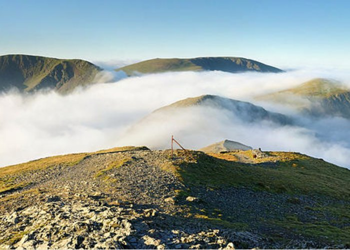 English Greeting Card featuring the photograph Cloudsurfing Grisedale Pike by Stewart Smith