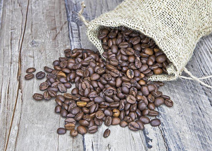 Coffee Greeting Card featuring the photograph Coffee Beans by Joana Kruse