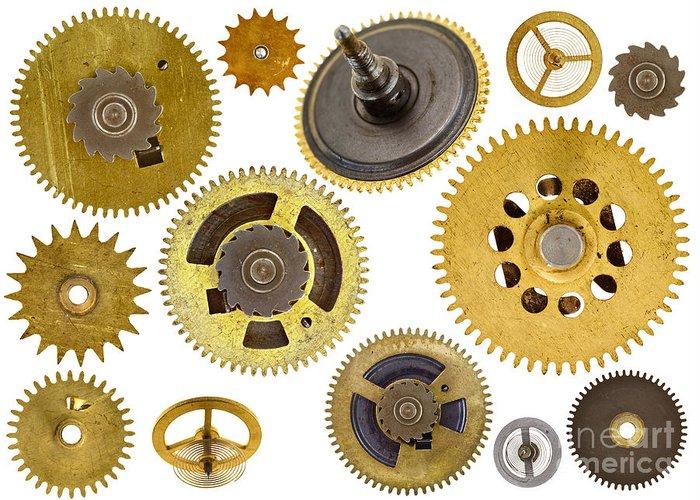 Cogwheel Greeting Card featuring the photograph Cogwheels - Gears by Michal Boubin