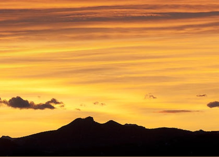 Colorado Greeting Card featuring the photograph Colorado Sunrise Landscape by Beth Riser
