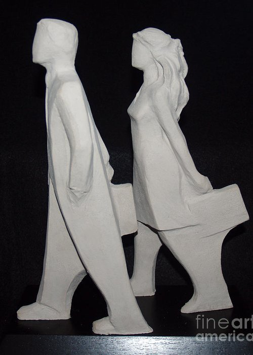 Sculpture Greeting Card featuring the sculpture Commissioned by Wayne Headley
