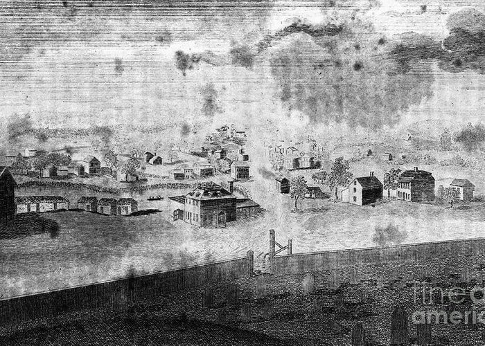1776 Greeting Card featuring the photograph Concord, 1776 by Granger