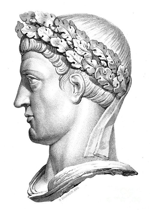 4th Century Greeting Card featuring the photograph Constantine I (d. 337) by Granger
