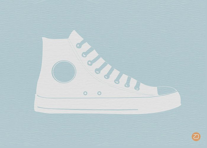Greeting Card featuring the photograph Converse Shoe by Naxart Studio
