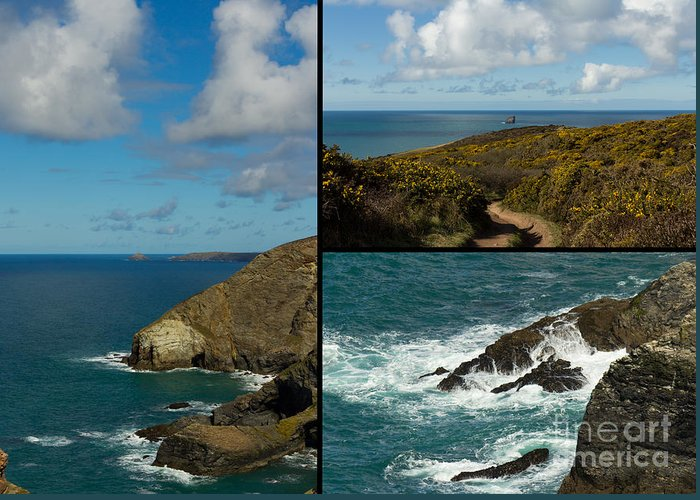 Landscape Greeting Card featuring the photograph Cornwall North Coast by Brian Roscorla