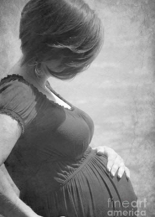 Pregnancy Greeting Card featuring the photograph Creating A Life by Sophie Vigneault