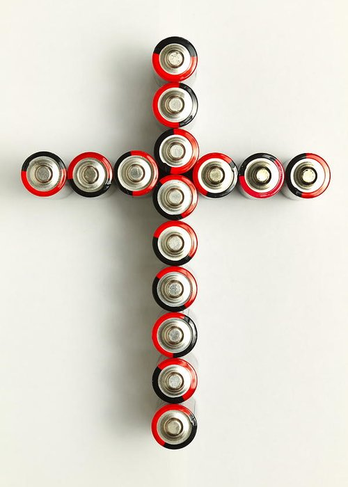 Cross Greeting Card featuring the photograph Cross Batteries 1 A by John Brueske
