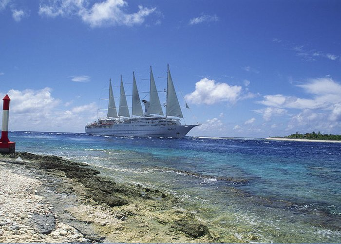 Ship Greeting Card featuring the photograph Cruise Ship by Alexis Rosenfeld