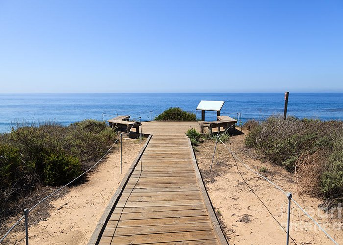 America Greeting Card featuring the photograph Crystal Cove State Park Ocean Overlook by Paul Velgos