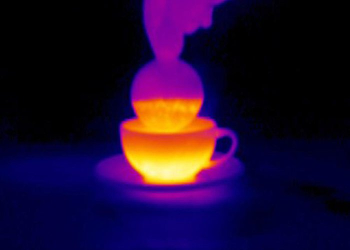 Tea Greeting Card featuring the photograph Cup Of Tea, Thermogram by Tony Mcconnell