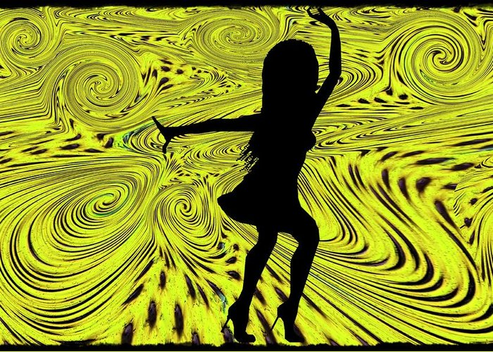 Dance Greeting Card featuring the digital art Dance by Bill Cannon
