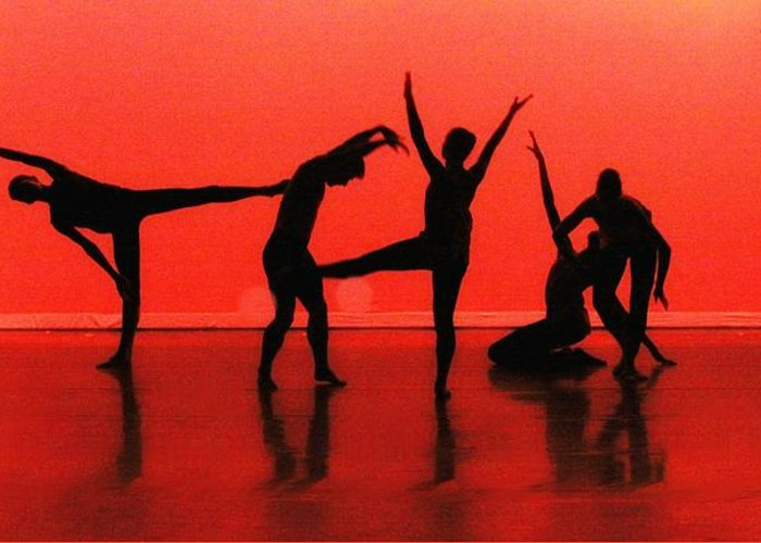 Dance Greeting Card featuring the photograph Dancing In Red by Kenneth Mucke