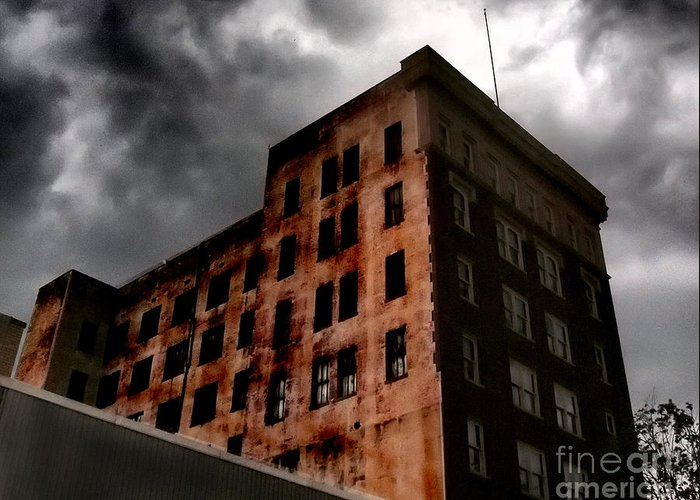 Architecture Greeting Card featuring the photograph Dark Shadows by Tammy Cantrell