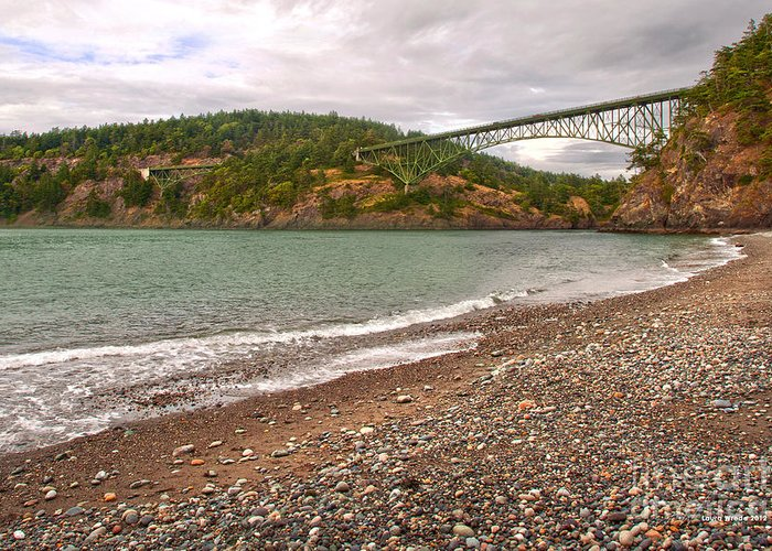 Deception Pass In Washington State Greeting Card featuring the photograph Deception Pass Washington by Artist and Photographer Laura Wrede