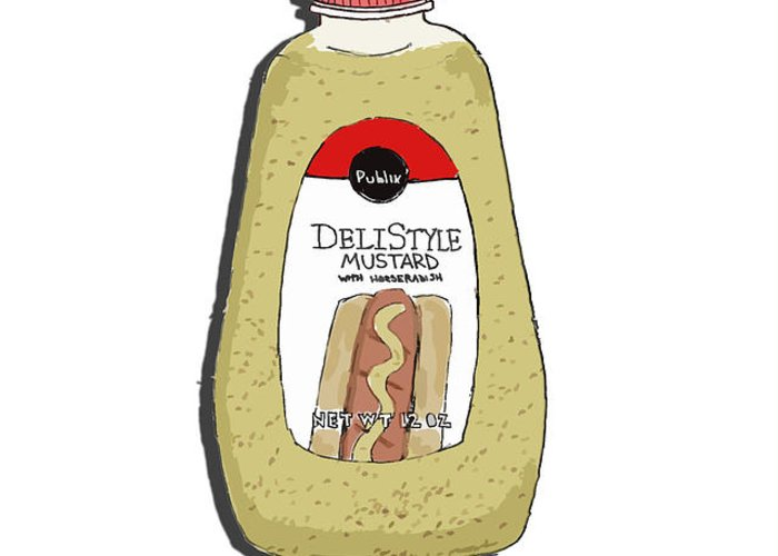 Deli Greeting Card featuring the painting Deli Style Mustard by George Pedro